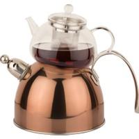 Tantitoni S S Bronz Düdüklü Çaydanlık Takımı