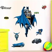 Zooyoo Süper Kahraman Batman Betmen Çocuk Odası Ev Duvar Görsel Dekor Resim Sticker