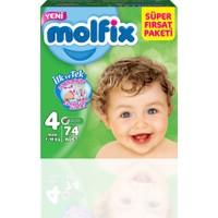 Molfix Bebek Bezi 4 Beden Maxi Süper Fırsat Paketi 74 adet