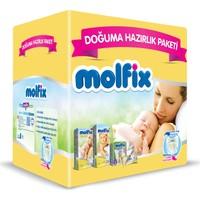 Molfix Bebek Bezi Doğuma Hazırlık Paketi (1 Beden Yenidoğan İkiz Paket 40 adet + 2 Beden Mini İkiz Paket 42 adet + Sensitive Islak Havlu 40 adet + Bebek Bakım Örtüsü 10 adet)