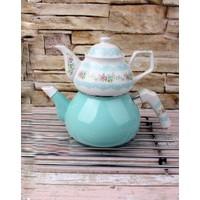 Porselen Emaye Çaydanlık Seti
