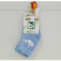 Bibaby 68140 Bambu Erkek 2'li Bebek Çorabı