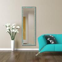Evmanya Deco Dekoratif Boy Aynası Yeşil Kırçıllı