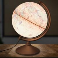 Işıklı Antik Küre 26Cm