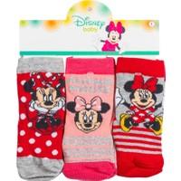 Minnie Mouse MN12525 Bebek 3'lü Soket Çorap