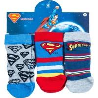 Superman SM12502 Bebek 3'lü Soket Çorap