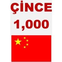 Hafıza Teknikleri Çince 1000 Kelime