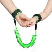 Evokids Spiral Kablolu Güvenlik Bilekliği - Yeşil (Çelik Uçlu)