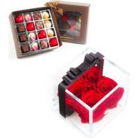 Solmayan Güller Red Forever ve Çikolata
