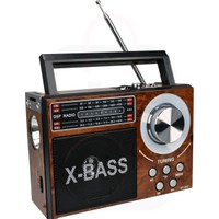 Nostaljik Radyo Retro Ahşap USB Micro SD MP3 Çalar 19cm