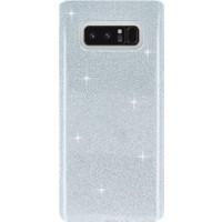 Kılıfshop Samsung Galaxy Note 8 Simli Silikon Kılıf + Ön Arka Ekran Koruyucu