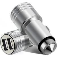 Powerway Usb Araç Çakmalığı Metal 3.1 Amper Süper Hızlı Şarj Çift Usb