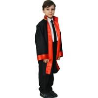 Hkostüm Hakim & Yargıç Cübbesi - Çocuk Meslek Kostümü 11-12 Yaş