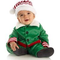 Hkostüm Yılbaşı Bebek Elf Kostümü Klasik 3-6 Ay
