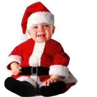 Hkostüm Yılbaşı Bebek Noel Baba Kostümü 3-6 Ay