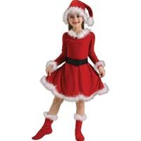 Hkostüm Yılbaşı Çocuk Noel Anne Kostümü 3-4 Yaş