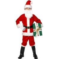 Hkostüm Yılbaşı Çocuk Noel Baba Kostümü 9-10 Yaş