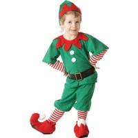 Hkostüm Yılbaşı Elf Çocuk Yılbaşı Kostümü Lüks 3-4 Yaş