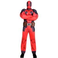 Marvel Heroes Deadpool Cadılar Bayramı Yetişkin Kostümü Lüks 175-185 Boy