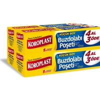 Koroplast Buzdolabı Poşeti Küçük Boy 4 Al 3 Öde 200'lü 20x30 cm