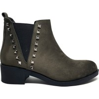 Shop And Shoes 172-7115 Siyah Süet Bot Kadın Ayakkabı