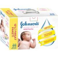 Johnsons Baby Yeni Doğan Parfümsüz Islak Mendil 672 Paket 12'li Paket