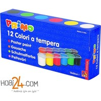 Primo Guaj Boyası 25Gr Plastik Şişe 12 Renk Karton Kutu