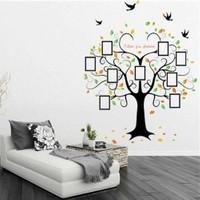 Zooyoo Soy Ağacı Kuşlar Fotoğraf Albümlü Görsel Resim Boyut 204X60 Cm Duvar Sticker