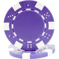 Pusula Oyun Mor Renk 25 Adet Poker Çipi, Fişi, Chipi ,5 Gr