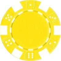 Pusula Oyun Sarı Renk 25 Adet Poker Çipi, Fişi, Chipi ,5 Gr
