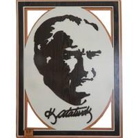 Atatürk Ahşap Kesme Tablo