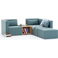 Evdebiz Plus+ Modüler Ottawa Sehpalı Köşe Koltuk Mavi