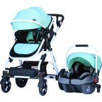 Yoyko Luxury Travel Sistem Bebek Arabası 3 in 1 Yeşil - Beyaz