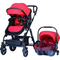 Yoyko Luxury Travel Sistem Bebek Arabası 3 in 1 Kırmızı - Siyah