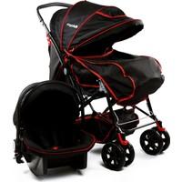 Asyamo Keeper Seyahat Sistem Bebek Arabası / Siyah
