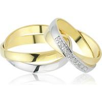 Allegro Gold 925 Ayar Gümüş Çift Alyans EA0243