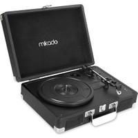 Mikado Nostalgia Mn-P317 Siyah Turntable+Rca+Bluetooth Destekli Pikap