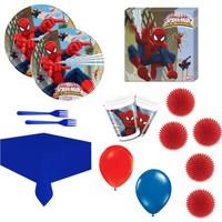 Party Var Spider Man Doğumgünü Seti 16 Kişilik