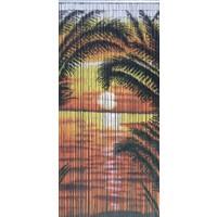 Bambu Kapı Perdesi Güneş Baskılı -En 90Cm - Boy 200Cm