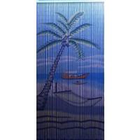 Bambu Kapı Perdesi Hamak Baskılı -En 90Cm - Boy 200Cm
