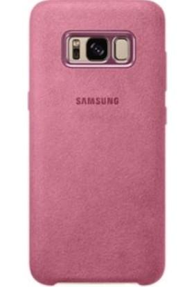 Samsung Galaxy S8 Alcantara Kılıf Pembe - EF-XG950APEGWW