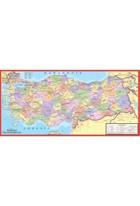 Puzz (23x47 cm) Küçük Boy Bölgesel Türkiye Yapboz