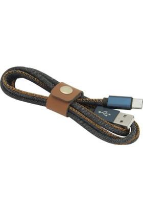 Frisby FA-7542TC Jeans Stil USB 2.0 Type C Kablo - FA-7542TC