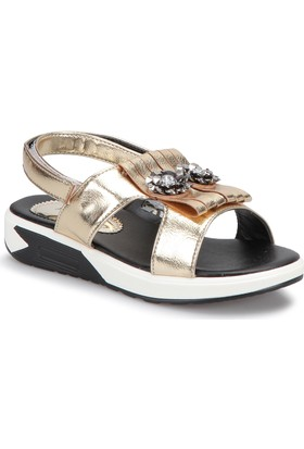 Pink Step Pappy Altın Kız Çocuk Basic Sandalet