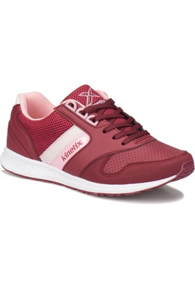 Kinetix Larix Bordo Beyaz Pembe Kadın Sneaker Ayakkabı