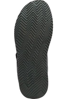 Freemood K020-952 M 4033 Siyah Erkek Deri Sandalet