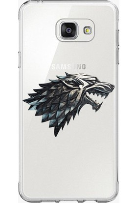 Remeto Samsung Galaxy Note 5 Game Of Thrones Stark Logolu Şeffaf Silikon Kılıf