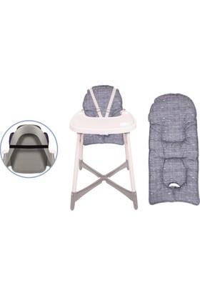 Sevi Bebe Mama Sandalyesi Minderi Kot Desen