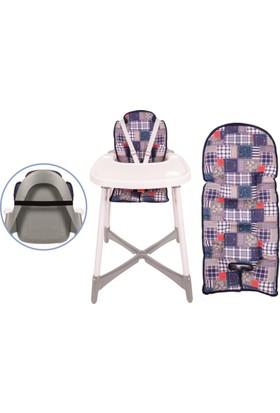 Sevi Bebe Mama Sandalyesi Minderi Yama Desen