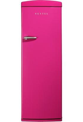 Vestel ST330 Retro Buzdolabı Pembe